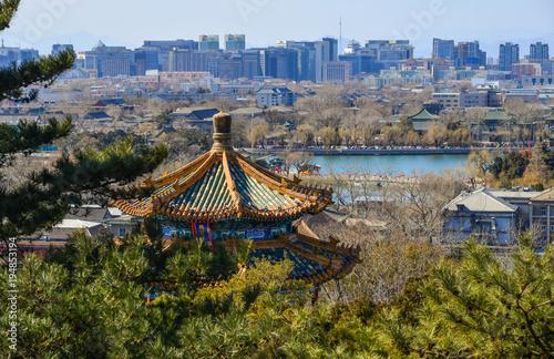 Poster Pekin Aerial view of Beijing, China