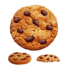 Chocolate Chip Cookies 3d Phot...