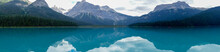 Panorama Der Bergkette Am Emerald Lake