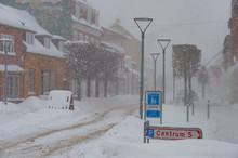 Snowy Winter Day In Denmark