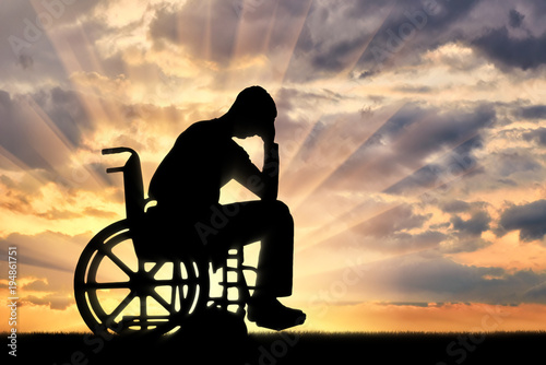 Fotografía Concept of people with disabilities experiencing dipression