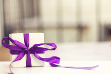 White  Small Gift Box With Thi...
