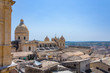 View of the baroque cathedral church, symbol of the city and the roofs of the houses in Noto