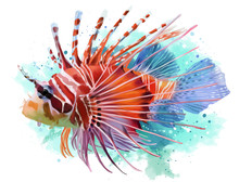 Lionfish Watercolor Painting