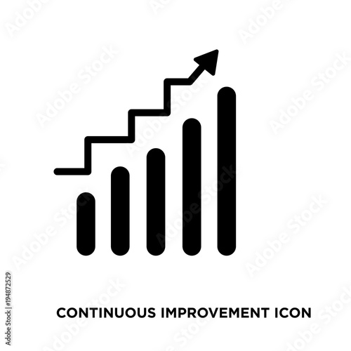 Fotografía  continuous improvement icon,flat vector sign isolated on white background