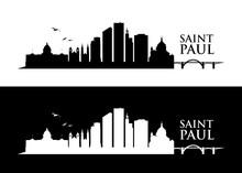 Saint Paul Skyline - Minnesota - United States Of America