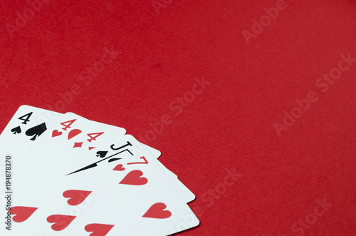 Playing cards, poker card combination плакат