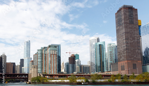 Photo Stands Kuala Lumpur Chicago City skyline from the waterfront