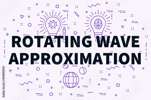 Photo Conceptual business illustration with the words rotating wave approximation