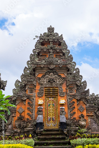 Poster Indonesië Pura Taman Saraswati Temple in Ubud, Bali