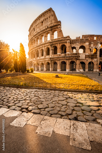 Stickers pour portes Rome Colosseum at sunrise, Rome, Italy