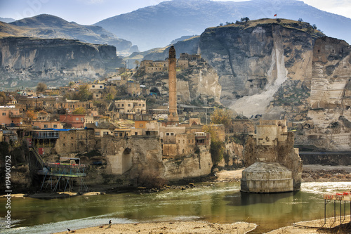 The landscape of the Hasankeyf region Canvas Print
