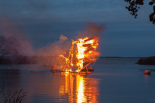 Burning Cane Sculptures In Bal...