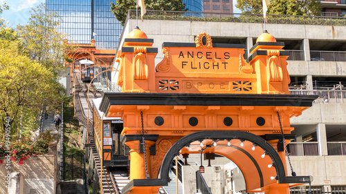 The old Angels Flight tramway in Los Angeles