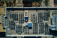 Aerial View Rooftop Hvac