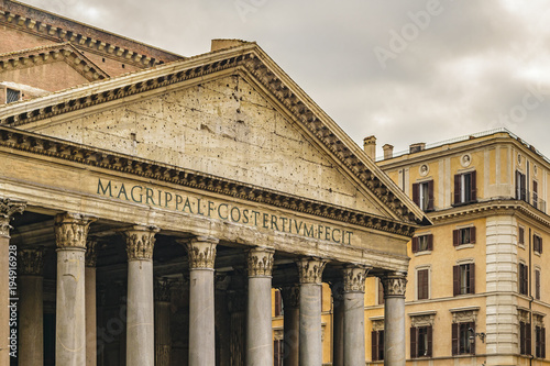 Pantheon Exterior View, Rome, Italy Wallpaper Mural