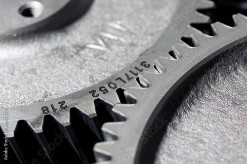 Photo  Cogwheels of a diesel power station