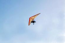 Ultralight Aircraft On An Afte...
