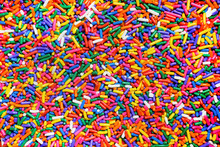 Rainbow Sprinkles Close Up Background