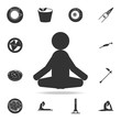 meditator icon. Detailed set of Indian Culture icons. Premium quality graphic design. One of the collection icons for websites, web design, mobile app