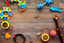 Pet Accessories. Toys Near Bow...