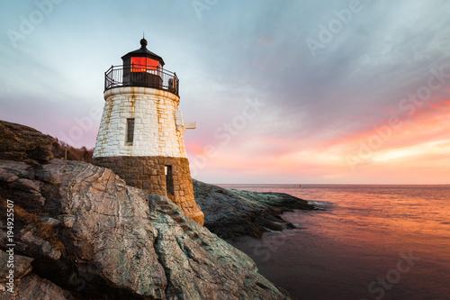 Photo Stands Lighthouse Castle Hill Lighthouse Newport Rhode Island