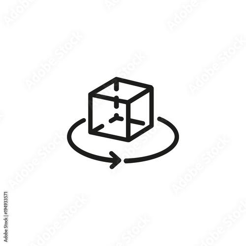 Fotografía  Rotating cube icon