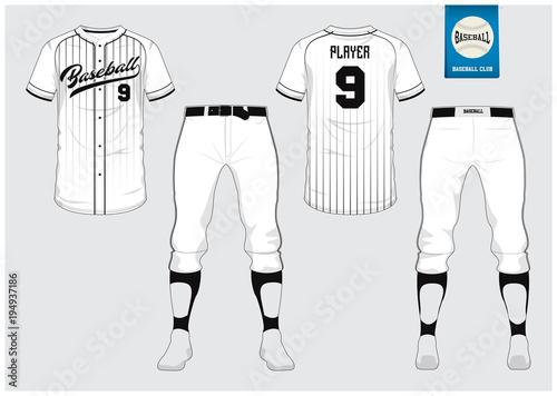 e1b6bfea16d Baseball jersey, sport uniform, raglan t-shirt sport, short, sock template.  Baseball t-shirt mock up. Front and back view baseball uniform.