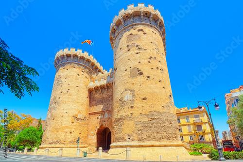 Towers of Quart (Torres de Quart) is one of the twelve gates ,of Wallpaper Mural