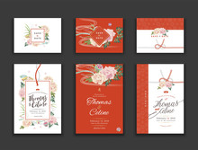 Set Of Save The Date Cards, We...