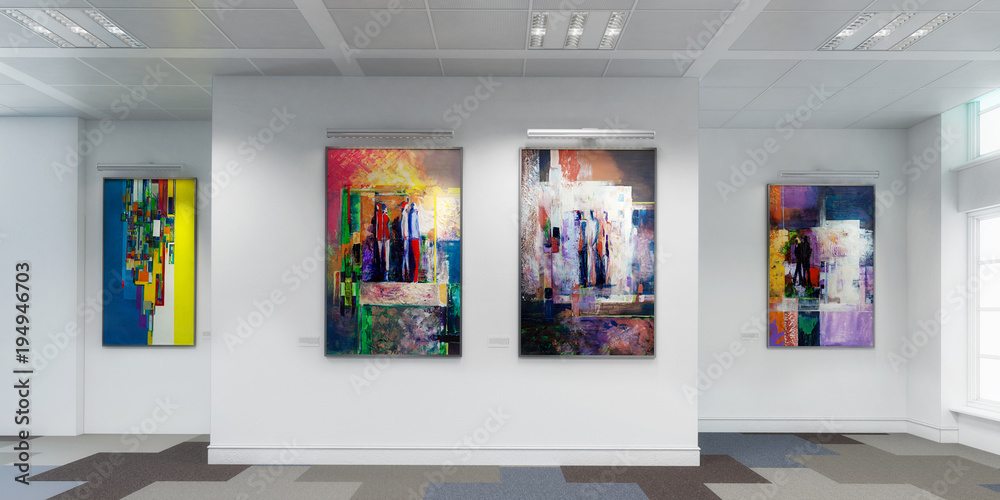 Fototapety, obrazy: Gemäldegalerie (panoramisch)