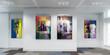 Leinwanddruck Bild - Gemäldegalerie (panoramisch)