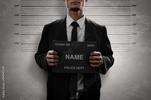 Fotografía  Mugshot of criminal