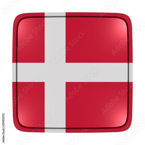 Denmark flag icon Canvas Print