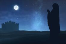 Silhouette Of Muslim Woman Rai...