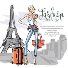 Street Style Girl Wearing Deni...