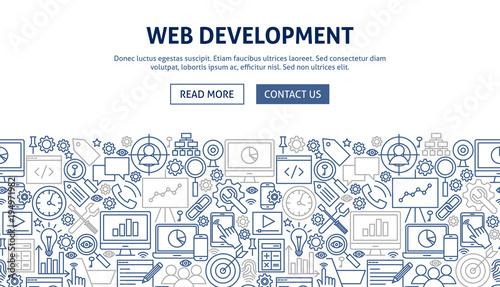 Web Development Banner Design Canvas Print