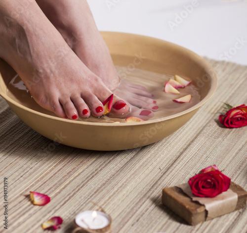 Poster Pedicure Foot Spa Treatment