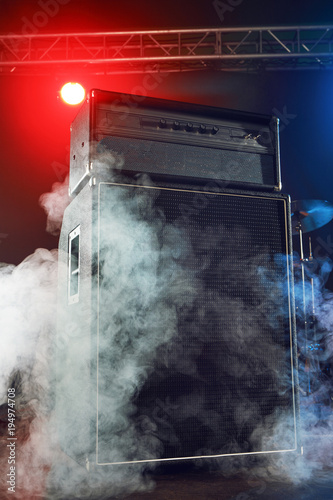 Photo Bass amp and cabinet.