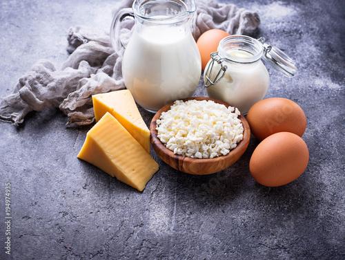 Keuken foto achterwand Zuivelproducten Assortment of various dairy products.