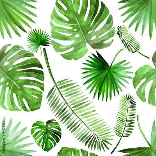 Fototapeta liście   mozaika-tropikalnych-lisci