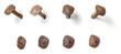 canvas print picture - Freigestellter handgeschmiedeter Nagel aus unterschiedlichen Perspektiven
