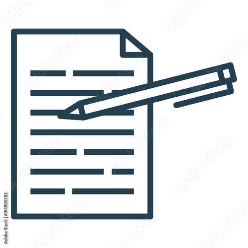 Fényképezés  pen writer isolated icon vector illustration design