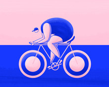 Female Athletes Cycling