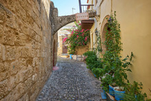 Cozy Street Of Old Rhodes City