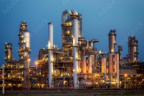 Fotografie, Obraz  Pipe work of an oil refinery plant.