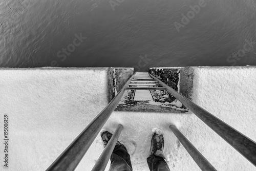 Photo Leiter nach unten, Abstieg, abwärts,