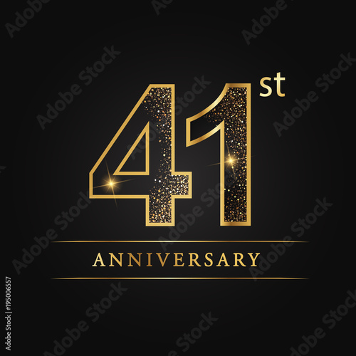Papel de parede  anniversary,aniversary, forty-one years anniversary celebration logotype