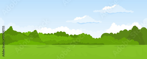 Keuken foto achterwand Blauwe hemel Rural summer landscape