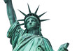 Statue of liberty in isolated white background, New York, United States of America